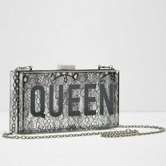 6515320608b Aldo Bags | Flash Sale Queen Clutch Lace Transparent | Poshmark